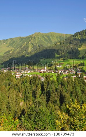 the Village of Riezlern,Kleinwalsertal Valley,Vorarlberg,Austria