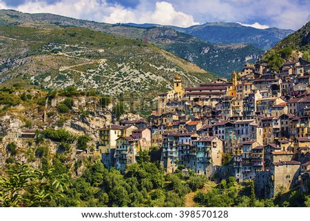 The Village of Saorge, Alpes-Maritimes, Provence, France