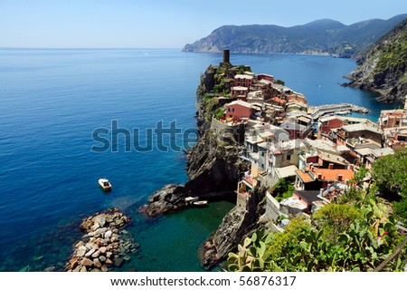 The village of Vernazza in the Cinque Terre, Italy.