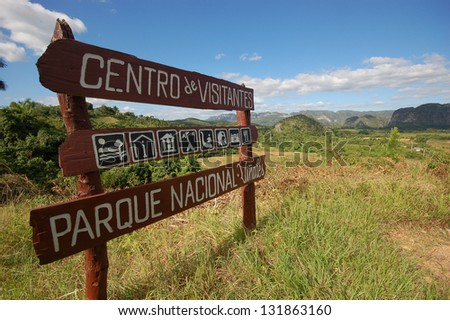 The Vinales valley in Cuba, a famous tourist destination and UNESCO Heritage - stock photo