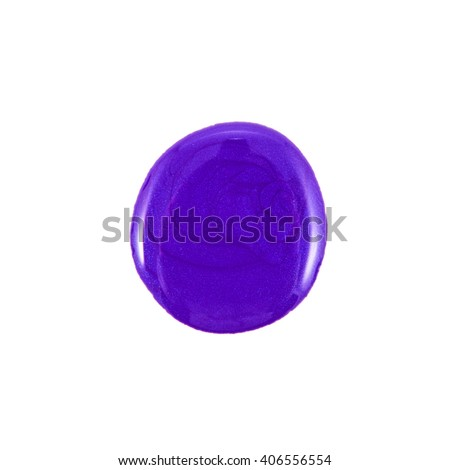 the violet  nail polish isolated - stock photo