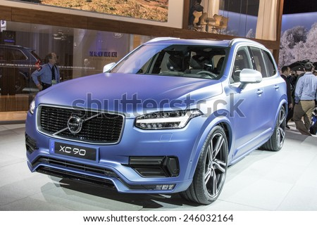 The 2016 Volvo xc90 at The North American International Auto Show January 13, 2015 in Detroit, Michigan. - stock photo