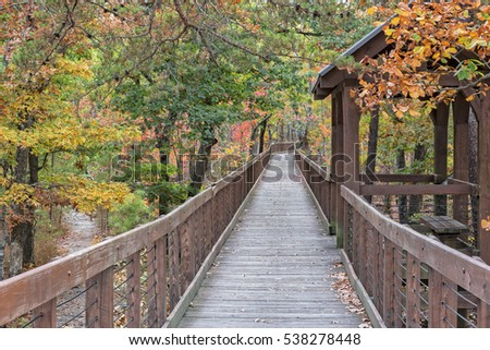 The Walkway Going Out To Bald Rock Overlook At Cheaha Mountain State Park In Alabama