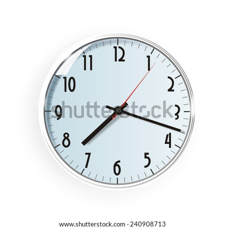 The wall clock illustration