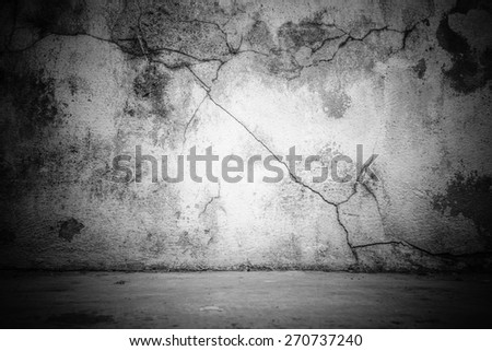 The walls a dark background for vintage design. - stock photo