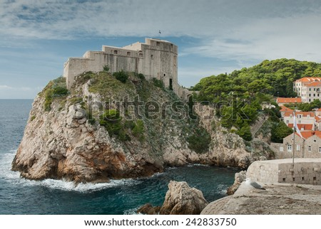 The walls of St. Lawrence Fortress, Dubrovnik, Croatia