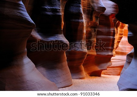 The walls of Upper Antelope Canyon