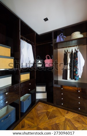 the wardrobe with nice clothes