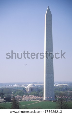 The Washington Monument and the Jefferson Memorial, Washington, D.C.
