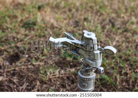 the water sprinkler - stock photo