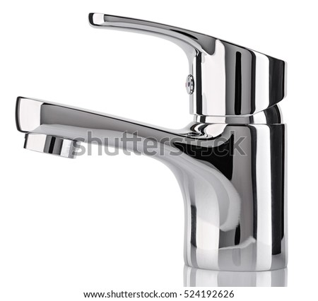 Water Tap Faucet Bathroom Kitchen Mixer Stock Photo 524192626