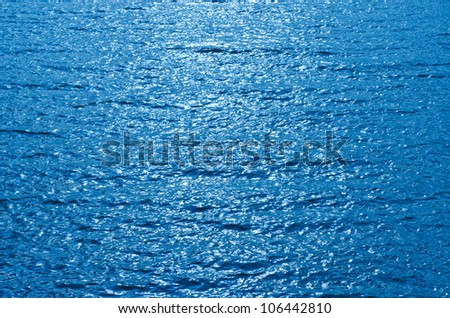 The water waves effects of lake . Sun light - stock photo