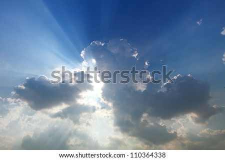 The waves breaking on a stony with day light - stock photo