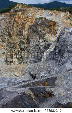 the way in stone mining  - stock photo