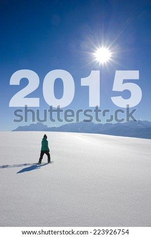 the way to new year 2015 - stock photo