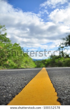 the way to the future - stock photo