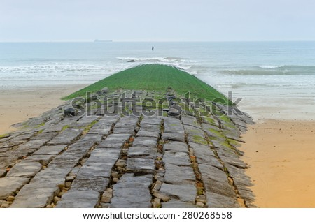 the way to the sea - stock photo
