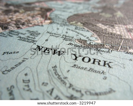 The way we looked at New York in 1949. - stock photo