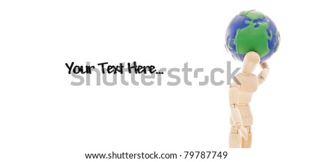 The Weight Of The World (Space for Text) - stock photo