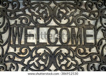 The welcome doormat - stock photo