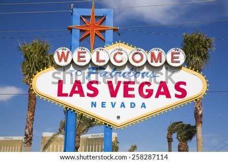 The welcome to Las Vegas sign - stock photo