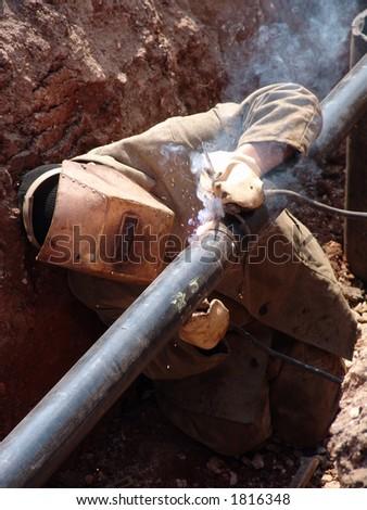 The welder - stock photo