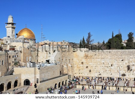 The Western Wall of the Third Temple in Jerusalem