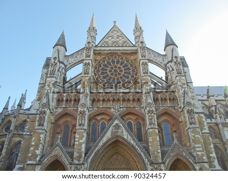 The Westminster Abbey church in London UK - stock photo