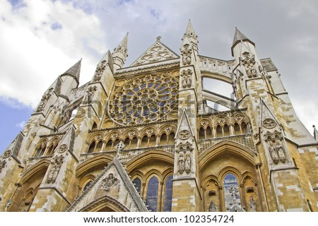 The Westminster Abbey, London - stock photo