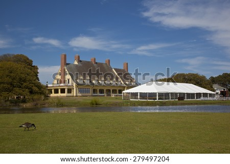 The Whalehead Club in Corolla in the Outer Banks is a popular destination for weddings. - stock photo