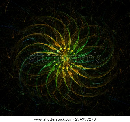 The Wheel of Time abstract illustration - stock photo