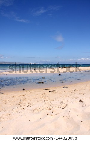The white beach near Tarifa - stock photo