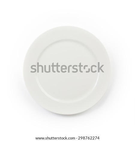 The white Ceramic Plate on white background