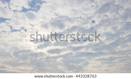 The white cloud on the blue sky background