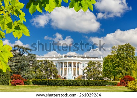 The White House at summer, Washington DC - stock photo