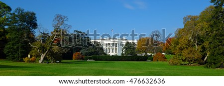The White House in Autumn - Washington DC, United States