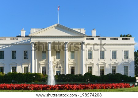 The White House in Spring - Washington DC, United States of America - stock photo