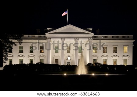 The White House in Washington D.C. in the nigh