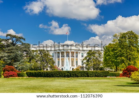 The White House in Washington DC - stock photo