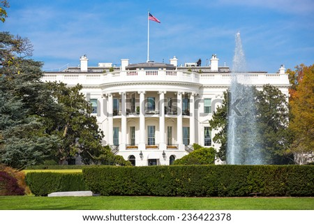 The White House in Washington, DC. - stock photo