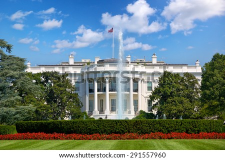 The White House in Washington DC, United States - stock photo