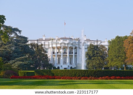 The White House in Washington DC. US President residence in the capital.
