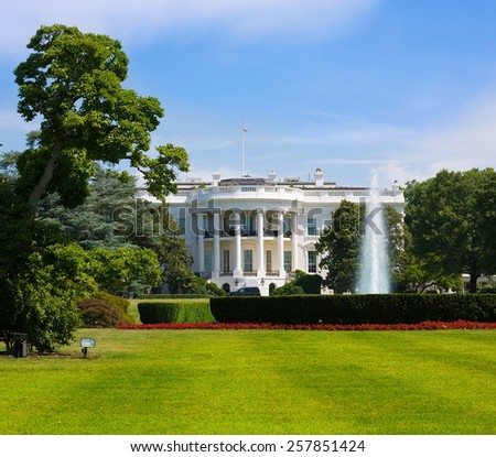 The White House in Washington DC USA United States - stock photo
