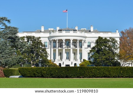 The White House - Washington DC United States - stock photo