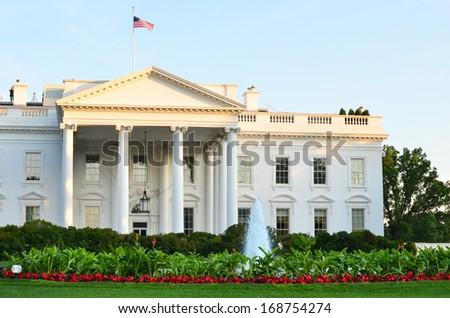 The White House - Washington DC United States  - stock photo