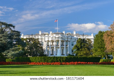 The White House - Washington DC, United States - stock photo