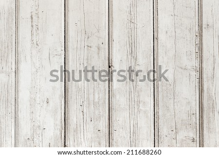 The white paint wood texture with natural patterns - stock photo