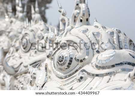 The white templo of Wat Rong Khun, northern of Chiang Mai in Thailand