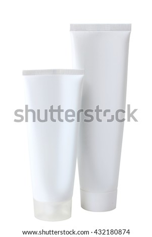 the white tube on a white isolated background