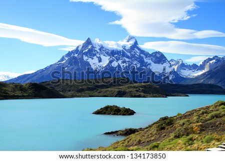 The wilderness of Patagonia at its best. - stock photo